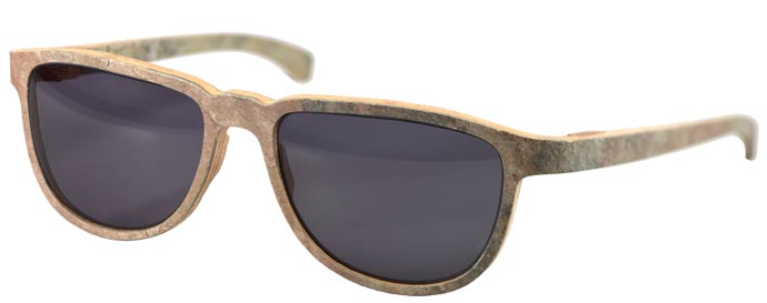 Standing warm against the cold: Skylark 41 wood-stone glasses from Rolf Spectacles