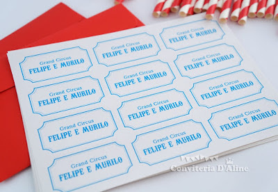circo personalizado adesivos