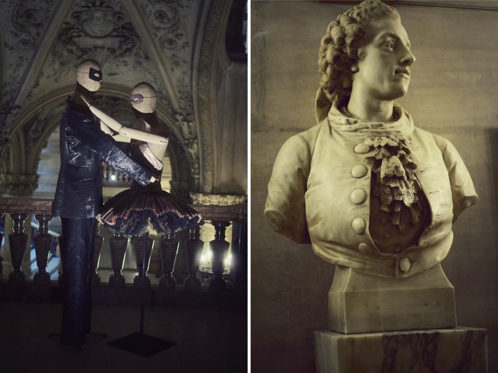 costumes and decorations at opera garnier in paris