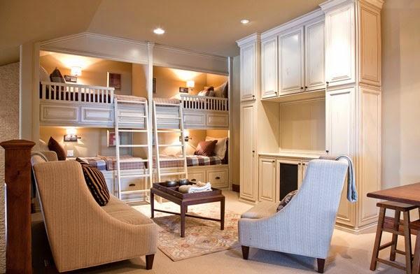 Dormitorios para cuatro ni os dormitorios colores y estilos - Habitacion literas ninos ...