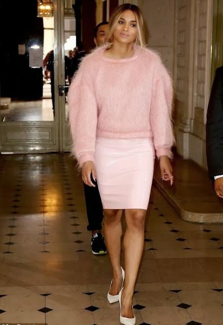Ciara pink vinyl skirt