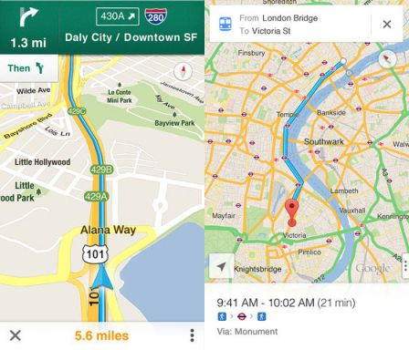 Google Maps will be able to access your Google contacts list