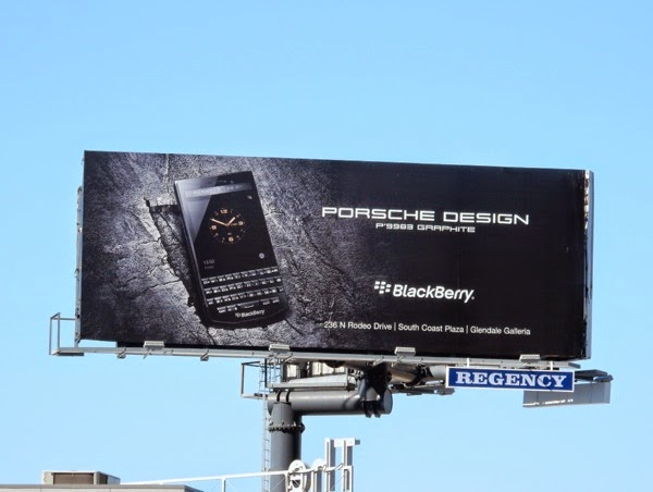 Porsche Design Blackberry billboard