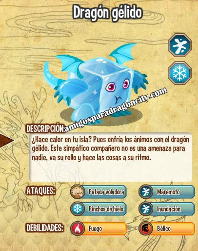imagen de las caracteristicas del dragon gelido