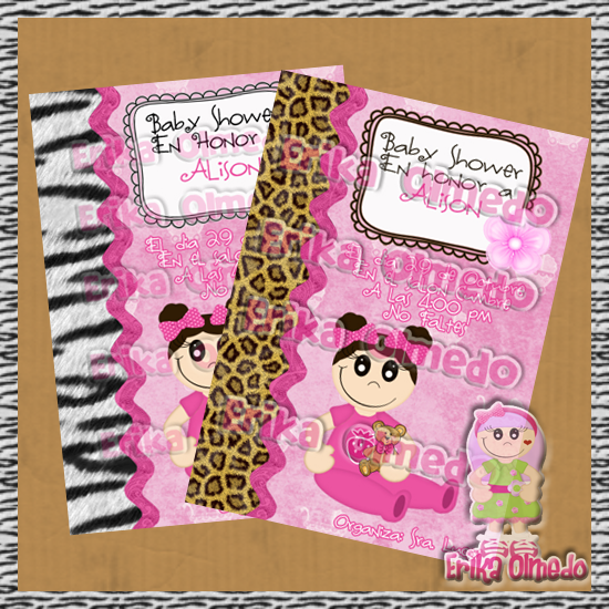Invitaciones Baby Shower tipo Animal Print ? ? •.