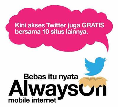 Gratis Twitter-an dgn Internet Tri AlwaysOn