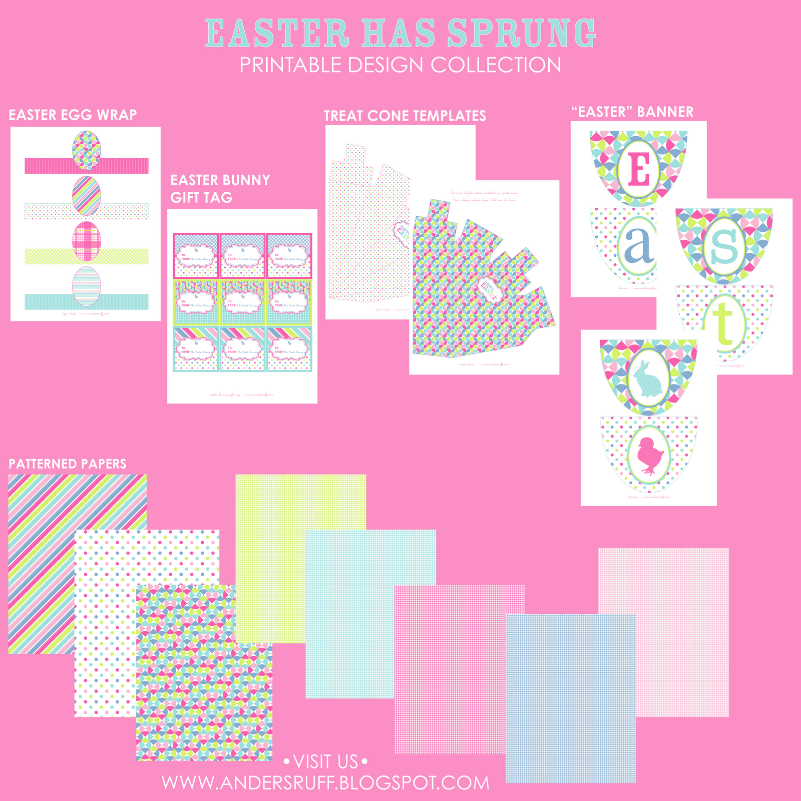 Easter has sprung printable collection and invitation anders we also have a fully coordinated easter egg hunt invitation as well in the shop now negle Choice Image
