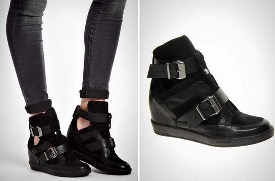 Lucas Buckle High Top Black Sneakers