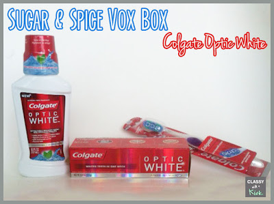 Sugar & Spice Vox Box from Influenster - Colgate Optic White