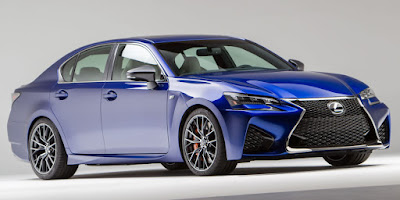 2016 Next Gen Lexus GS F performance front view