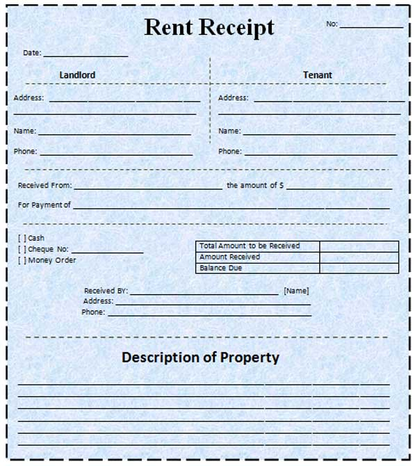 Free Rental Receipt Template Word. rent receipt template microsoft ...