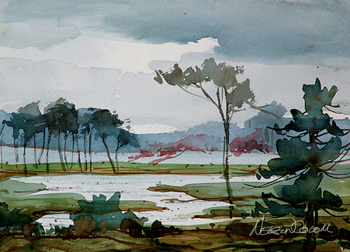 Illustration for Landscape paintings for beginners