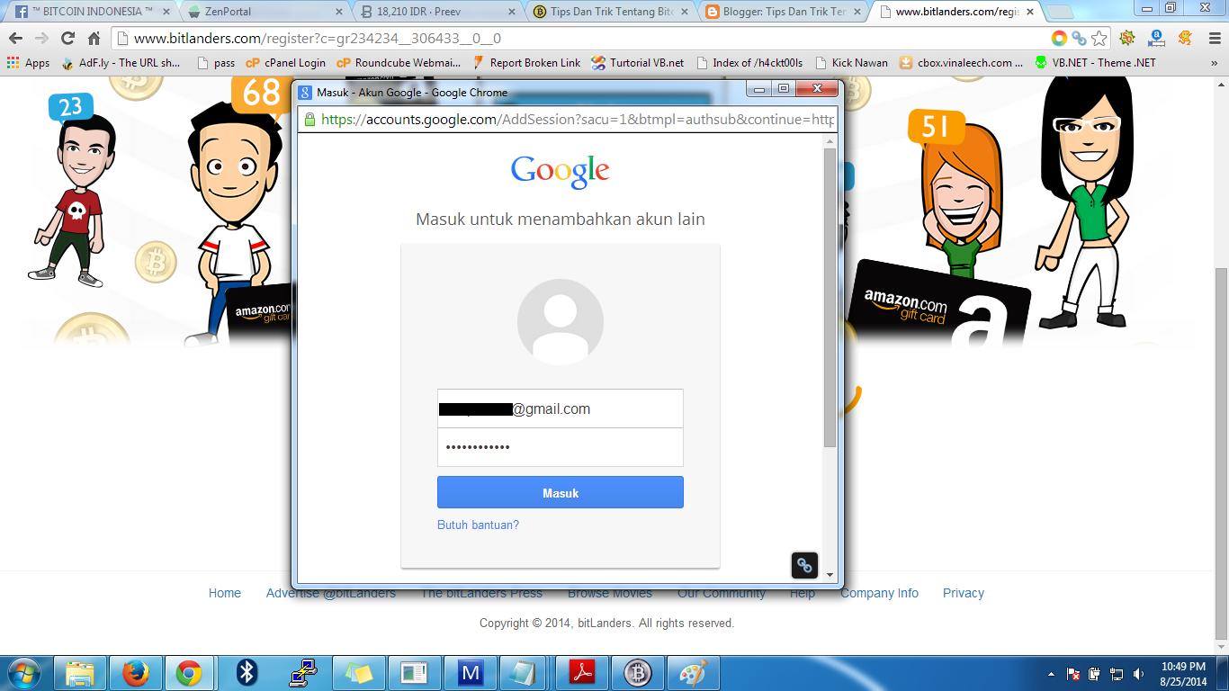 Jendela login akun Google+ - Berita Bitcoin