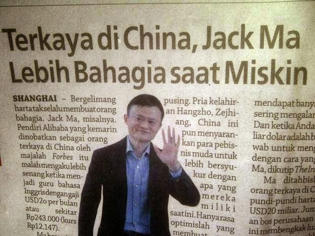 Pks Nusantara Terkaya Di China Jack Ma Lebih Bahagia Saat Miskin