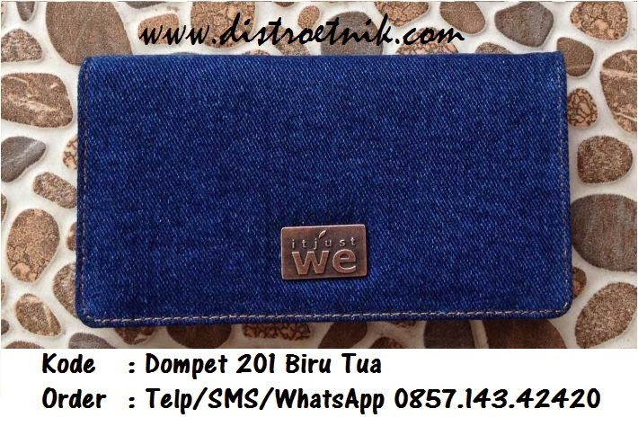 dompet jeans it just we wt 201 biru tua