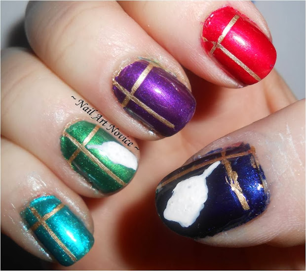 nail art novice 12 days of christmas