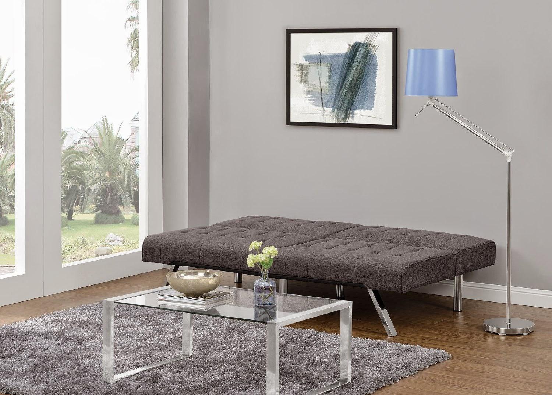 DHP Emily Splitback Futon - Grey Linen