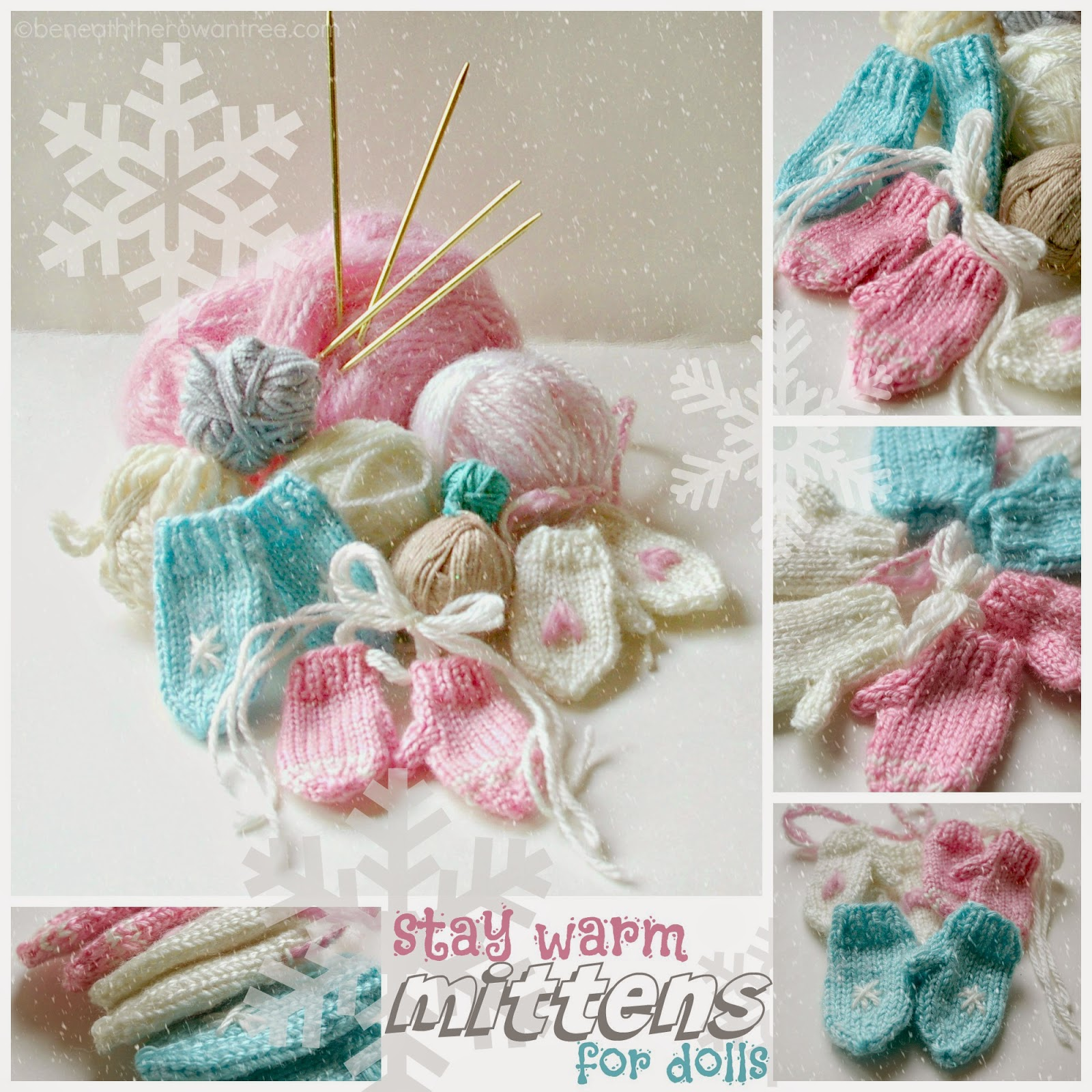 Free Knitting Pattern Doll Mittens : Beneath the Rowan Tree: Mittens for the Dolls :: Stay Warm (Free Knitting Pat...