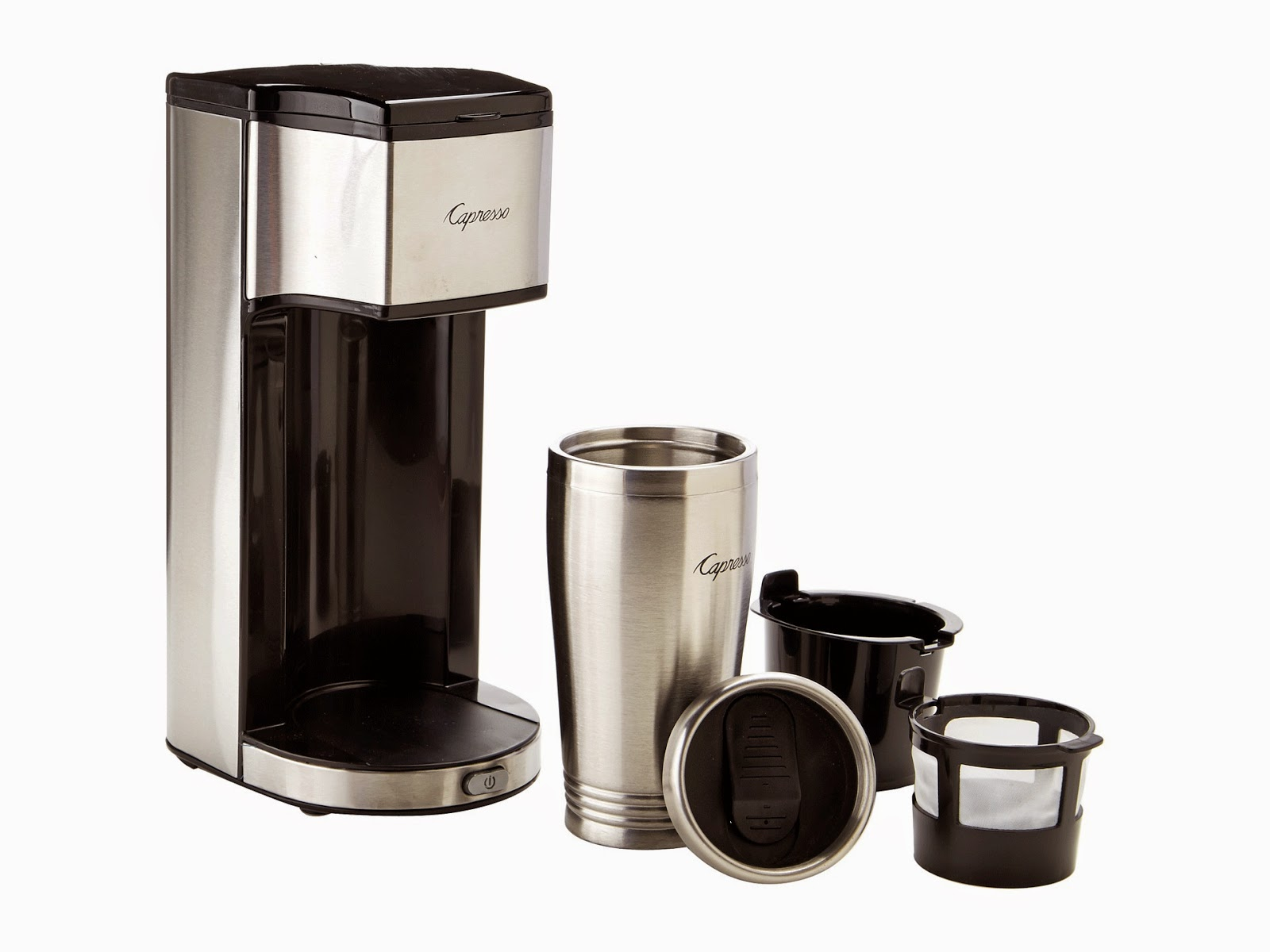 Top Notch Material: Capresso On-the-Go Personal Coffee Maker