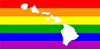 rainbow flag and Hawaii