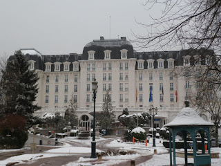 Imperial palace Annecy in the snow