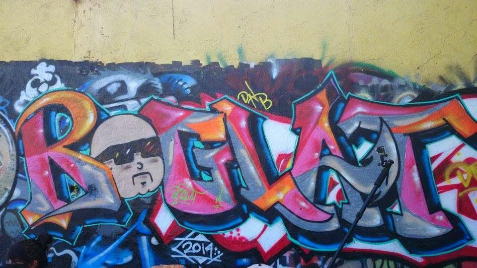 Labelsing Character Graffiti Legal Wall