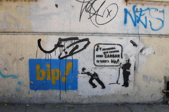 street art in santiago de chile barrio brasil tarjeta bip