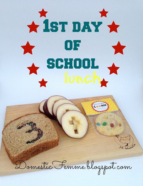First Day of School Lunch #BackToSchool #LunchIdeas #FirstDayOfSchool #1stDayOfSchool #Lunch #Ideas #Idea #Lunches #1st #Back #To #Day #Cookie #Cutter #Sandwich #Sandwiches #Printable #Printables #One #Smart #Cookie