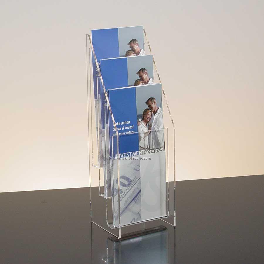 Brochure kiosk pics brochure holders acrylic for Plastic flyer stand