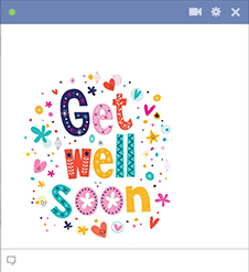 Get Well Soon Facebook Sticker