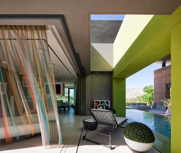 Terrace furniture in Multimillion modern dream home in Las Vegas