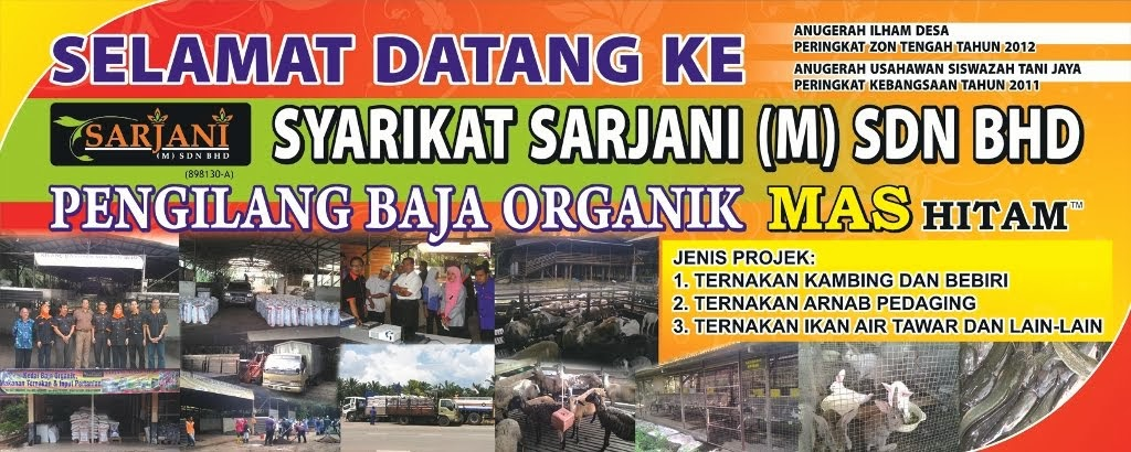 BAJA ORGANIK MAS HITAM (E.M) BOKASHI - SARJANI (M) SDN. BHD./SARJANI ENTERPRISE