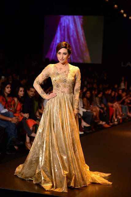 Karisma Kapoor walks for Vikram Phadnis at Lakme Fashion Week 2013