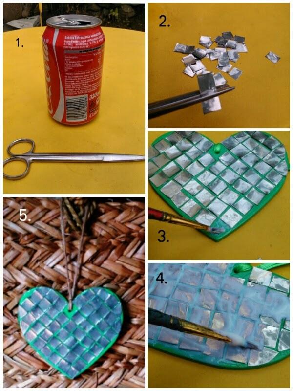 Decoupage transfer y otras t cnicas restauraci n de - Reciclar latas de refresco ...