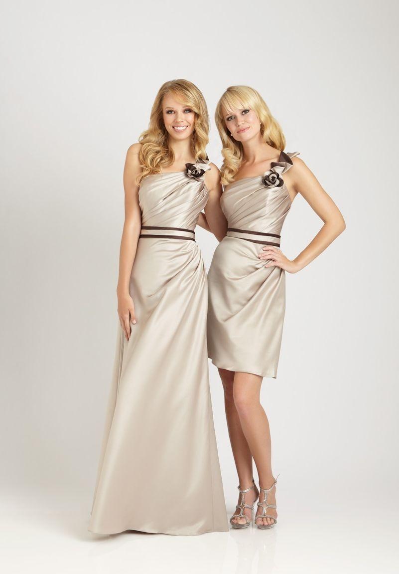 Whiteazalea bridesmaid dresses june 2013 satin one shoulder a line shortlong bridesmaid dress ombrellifo Images
