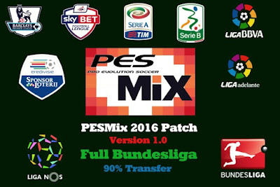PESMix 2016 Patch V1.0 Full Bundesliga - Released 21/09/2015