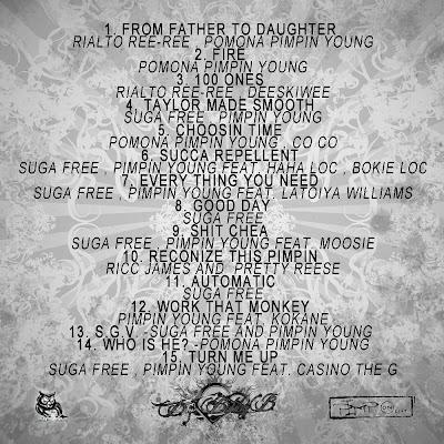 Suga Free & Pomona City Rydaz's Pimpin Young Pimp-on-ent--back