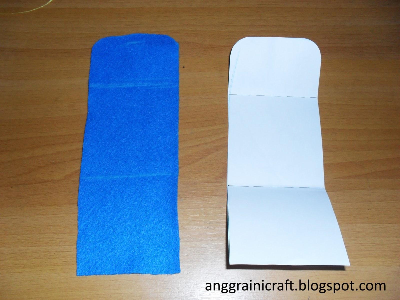 Beri hiasan pada kain felt, bisa dengan cara menyulam pita ...