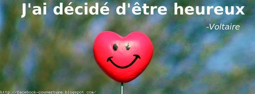 Photo de couverture facebook  citation heureuse
