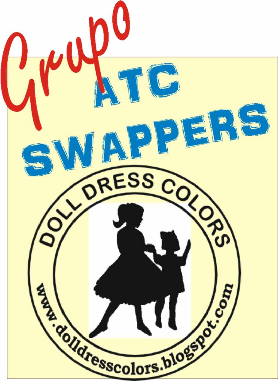Faço parte do grupo ATC Swappers - Doll Dress Colors