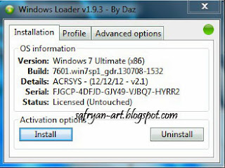 Software Activation Windows 7