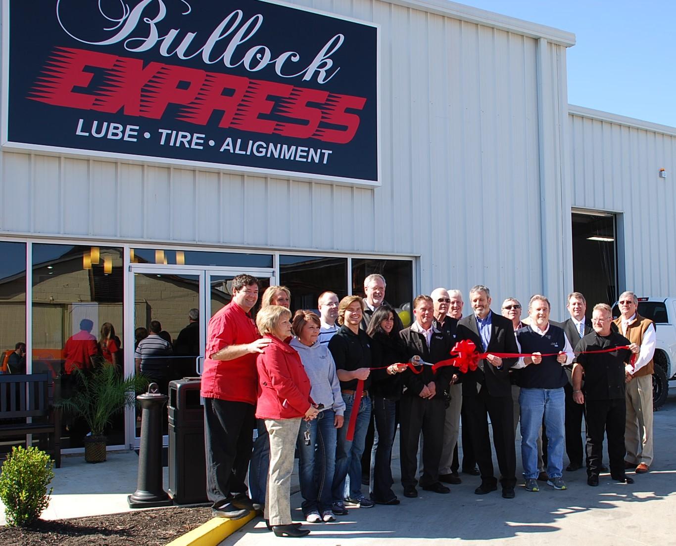 Ribbon Cutting At Bullock Express