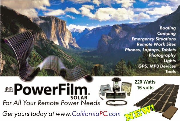 http://californiapc.com/Portable-Solar-Chargers/PowerFilm-Solar/