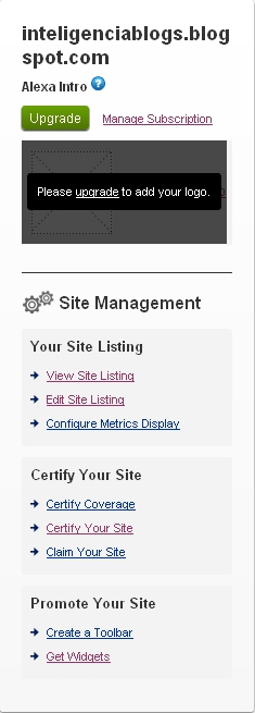 Alexa Site Management