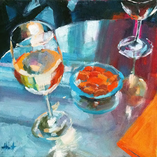 Let's Have a Drink at Oscar's by Liza Hirst