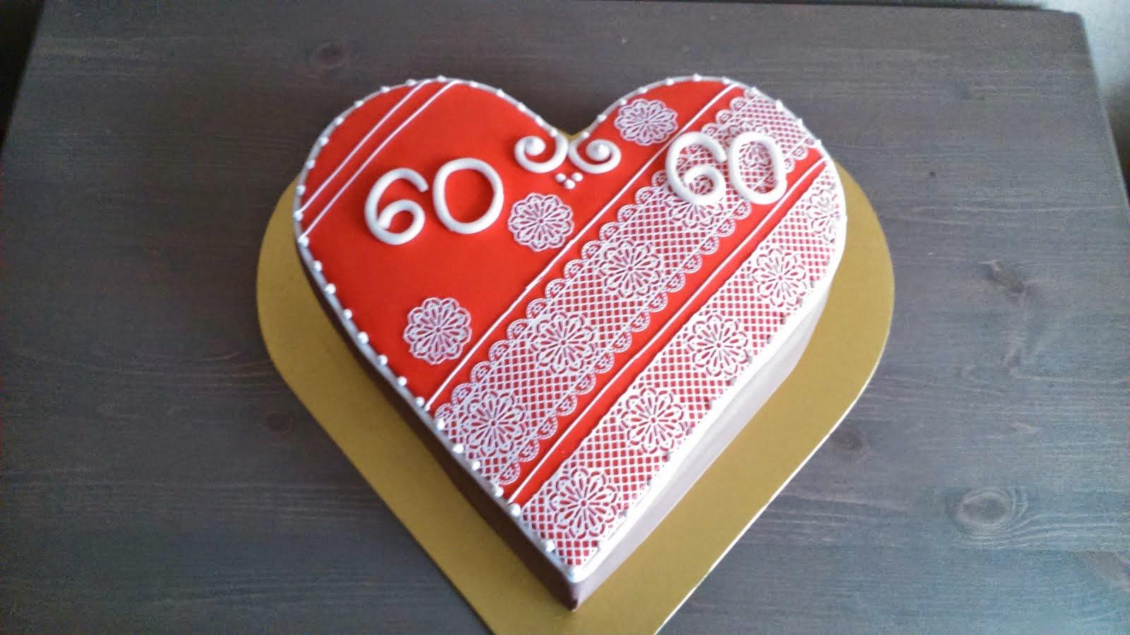Torta medovníkové srdce
