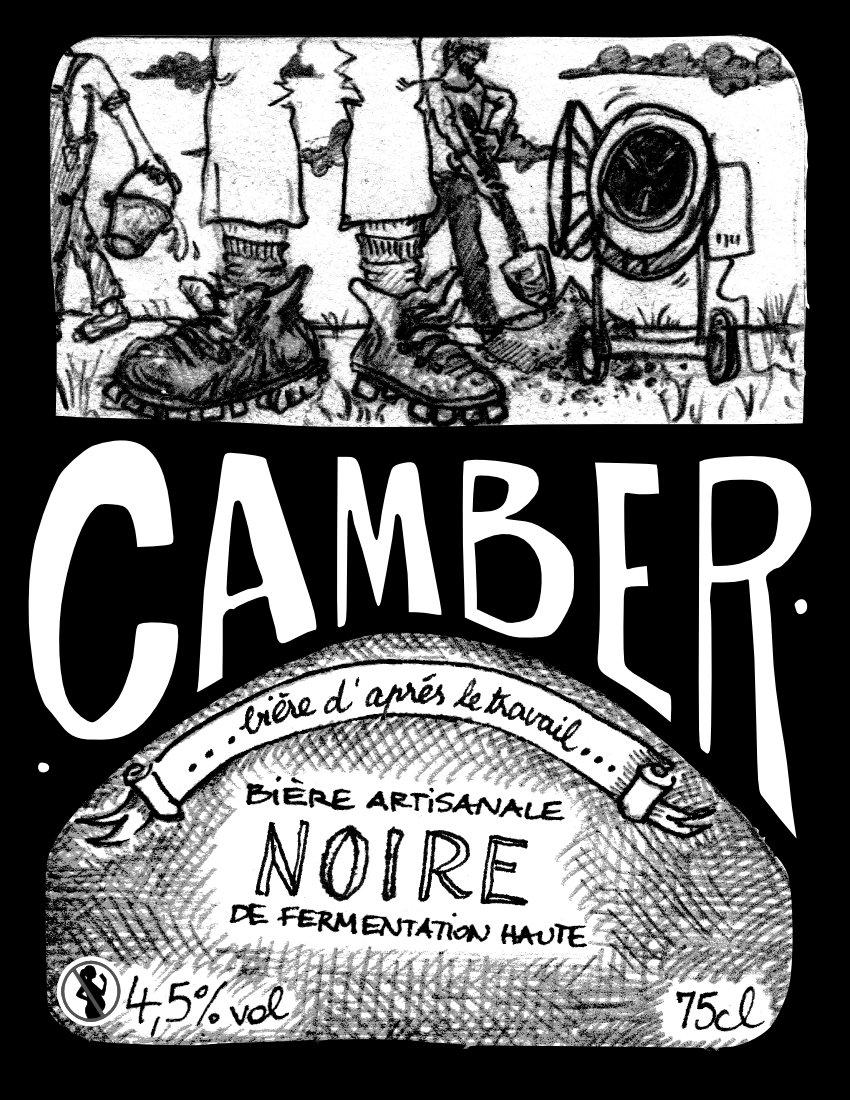 Bière La Camber  Noire d'après le travail 4.5% 75 cL
