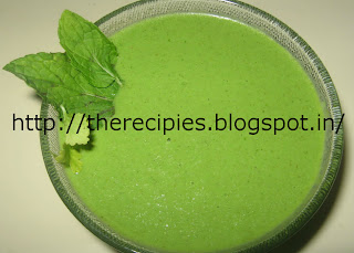 green chutney with mint and garlic