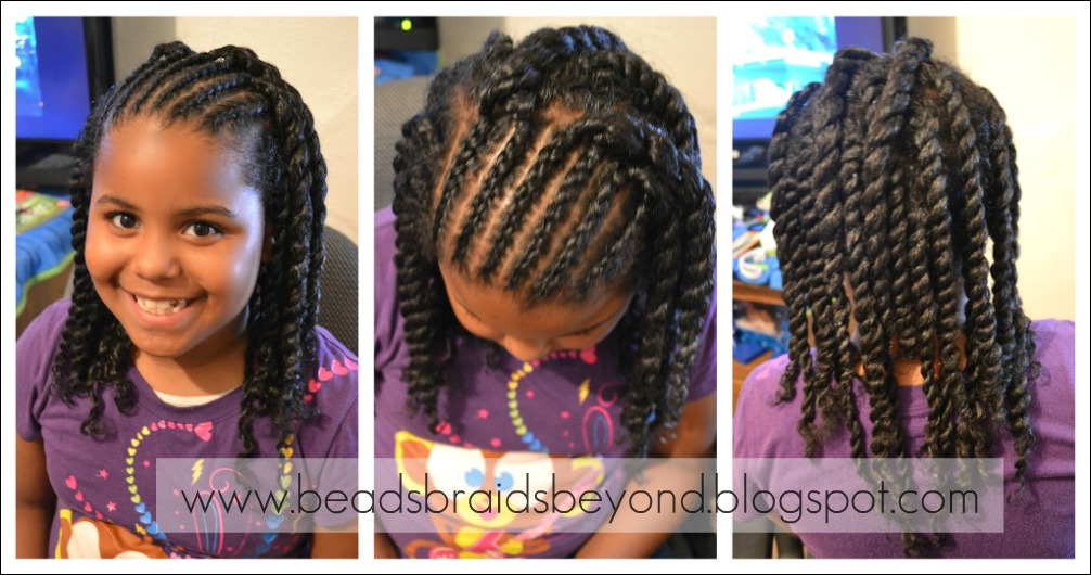 for Little Girls: Cornrows & Twist Out - Flat Twists & Twist Out