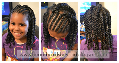 Natural Hair Styles for Little Girls: Cornrows & Twist Out - Flat